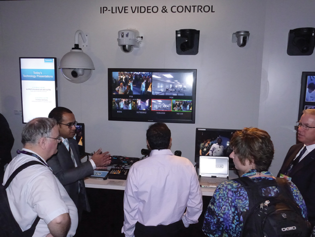 Remote production and streaming products attracted attendees from the commercial AV and independent production communities.