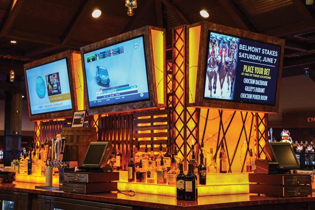 The Mason Jar Bar also incorporates digital signage.