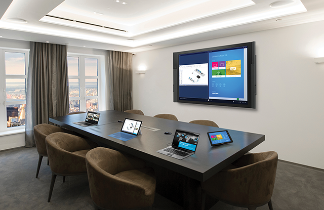 Unlike at last year's InfoComm show, Microsoft demonstrated its offerings for the AV market.