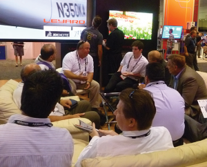 Even with more than 39,000 attendees, there were many opportunities for small group meetings.