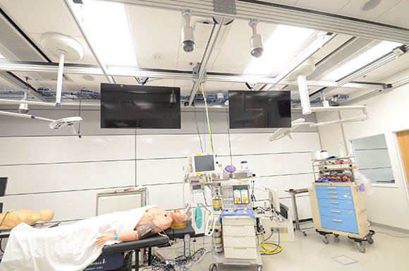 One of the standardized manikin simulation spaces.
