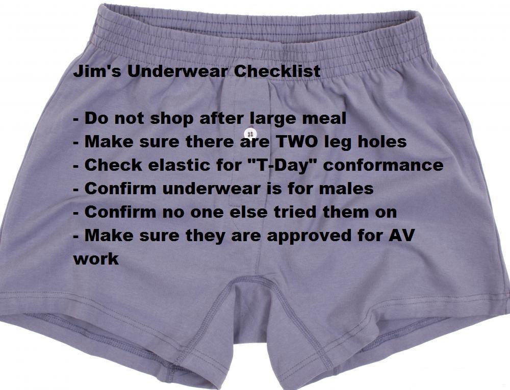 Underwear Checklist