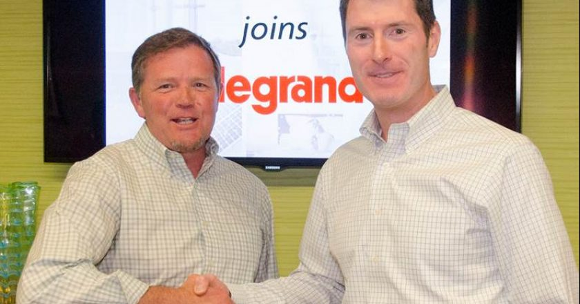(L-R) Jeffrey Curtis, President and CEO, Luxul; Brian DiBella, President, Electrical Wiring Systems at Legrand North America