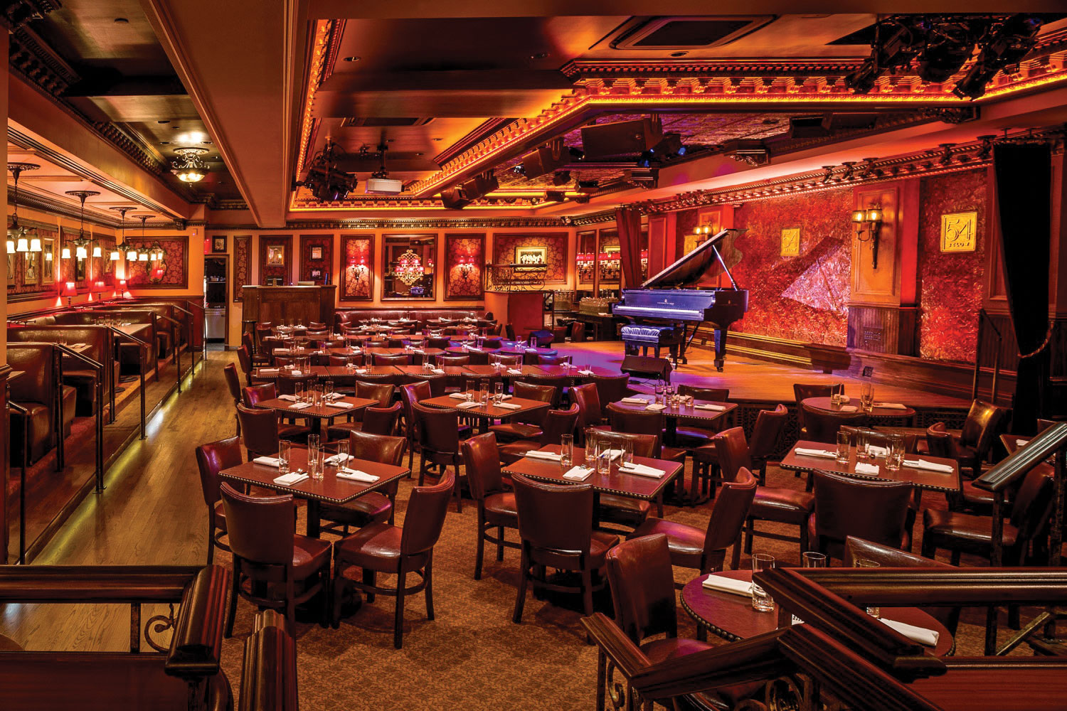 54 Below in New York City is a state-of-the-art nightclub located directly beneath the world-famous Studio 54.