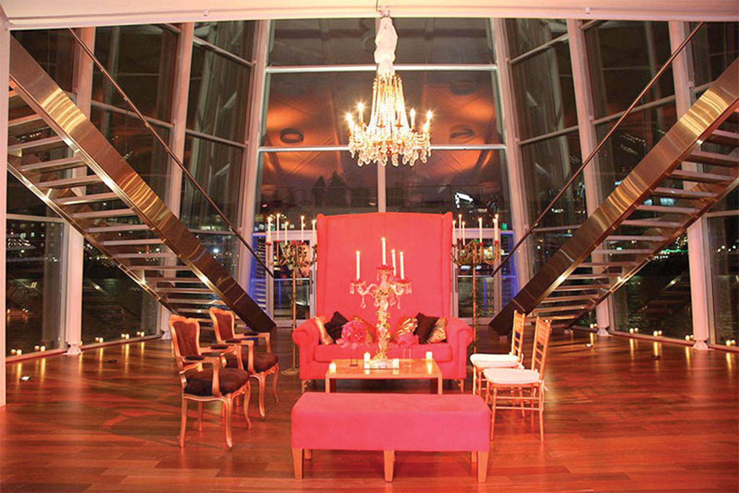 Madero Walk in Eventos, Buenos Aires, is a floating ballroom.