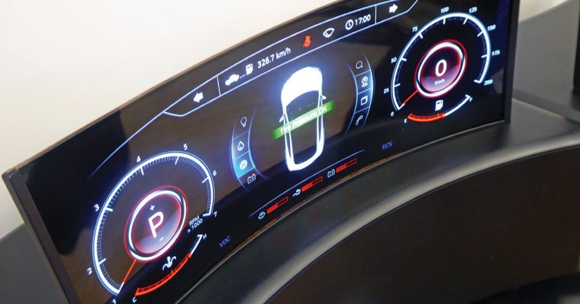 Flexible OLED screens.