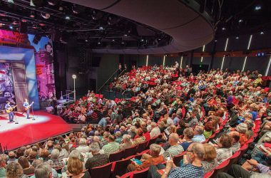 The 824-seat Alley Theatre recently completed a $46.5 million building renovation.