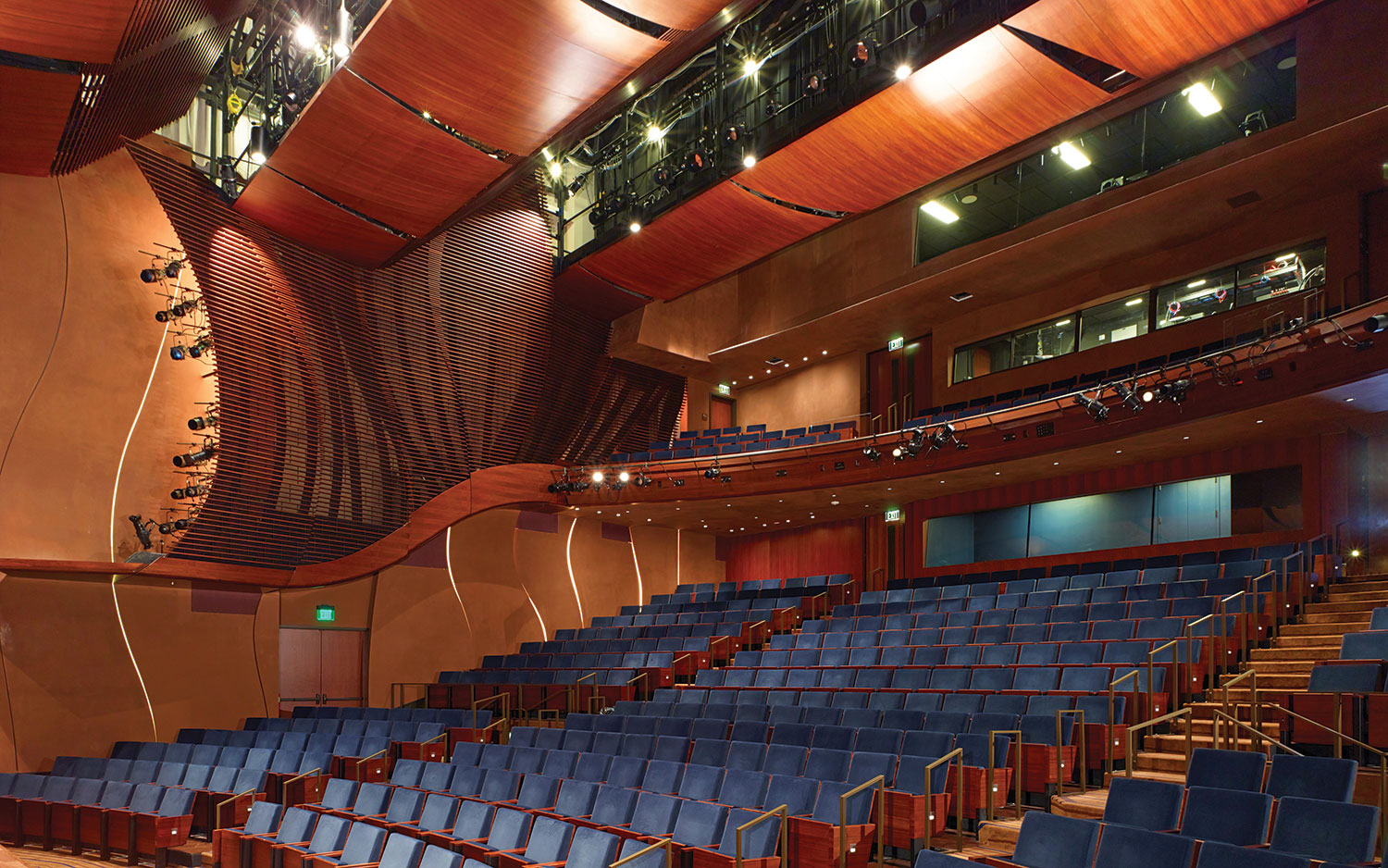 The Wallis Annenberg Center Blends Historic Architecture - Front of house theatre