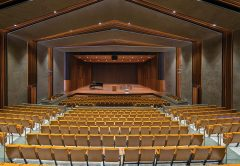 The stage can accommodate as many as 250 performers.