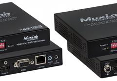 MuxLab's 500758 HDMI 4K over IP PoE Extender Kit