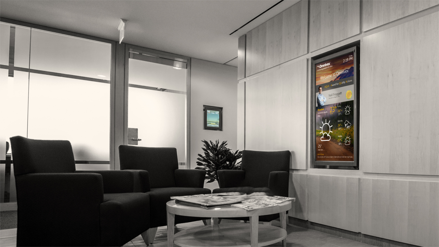 Impress your visitors while reinforcing corporate messaging.