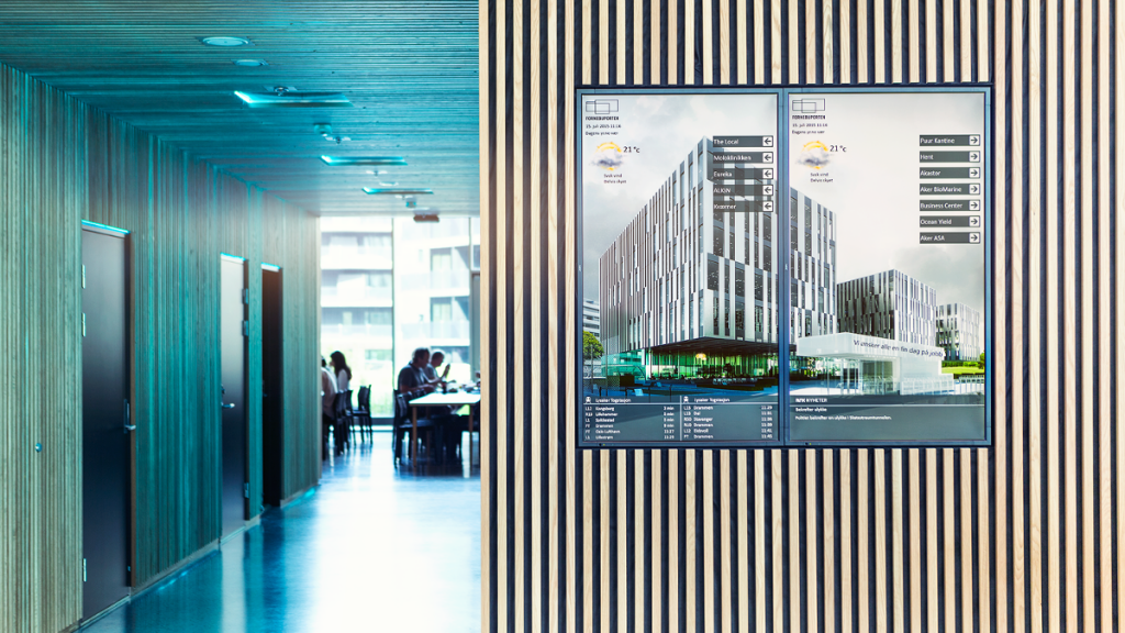 Provide personalized real-time information & easy building navigation.