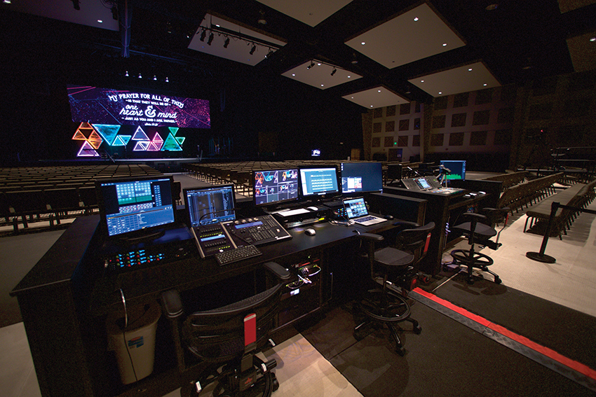 Part of the venue's AVL overhaul saw the relocation of the FOH mixing position to a more convenient, centrally located position.
