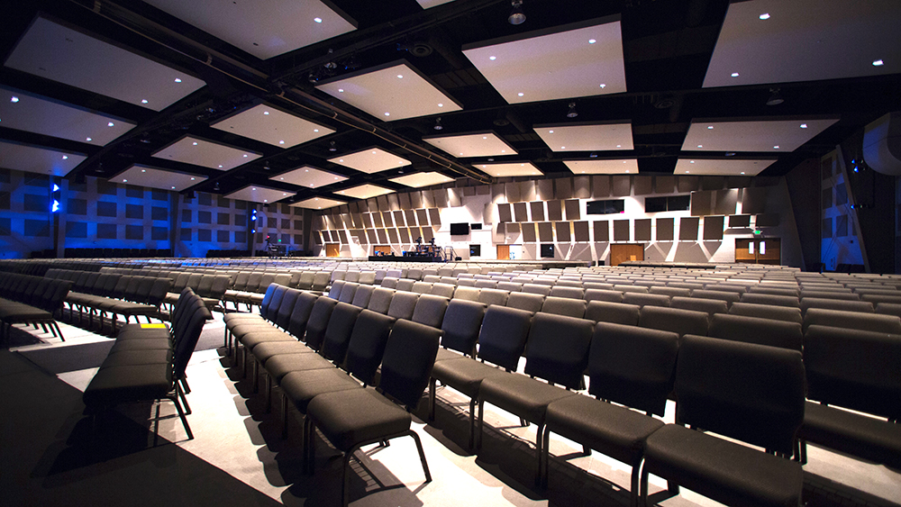 The Mountain Road broadcast campus features extensive acoustic treatment throughout the venue.