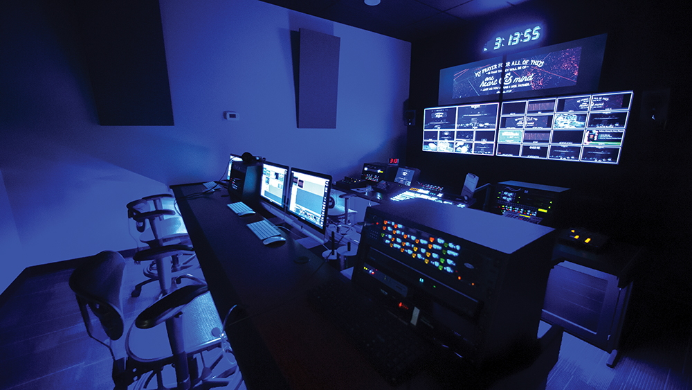 The Mountain Road campus' new dedicated control room gives Mountain Christian's media team and volunteers everything they need to produce high-end, broadcast-quality video.