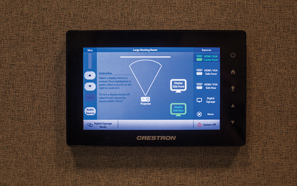A touchpanel for the large meeting room.
