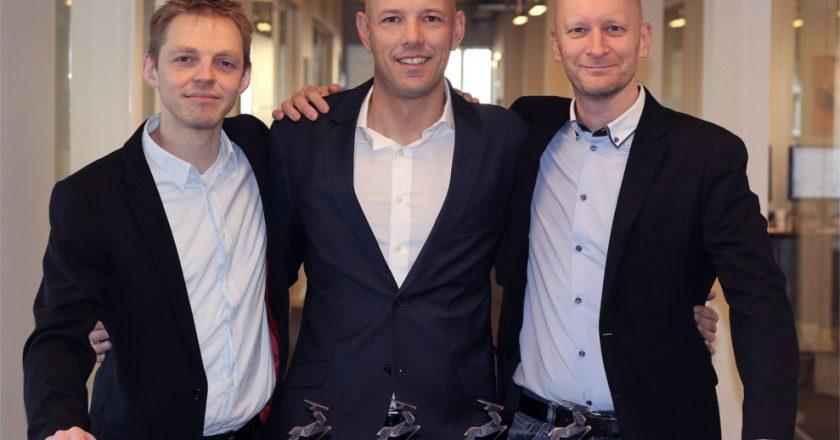 Pascal founding team (L-R): Jesper Lind Hansen Senior R&D Specialist, CEO Lars Fenger and Senior VP Business Development Peter Frentz, with the company's forth Borsen Gazelle Award in a row