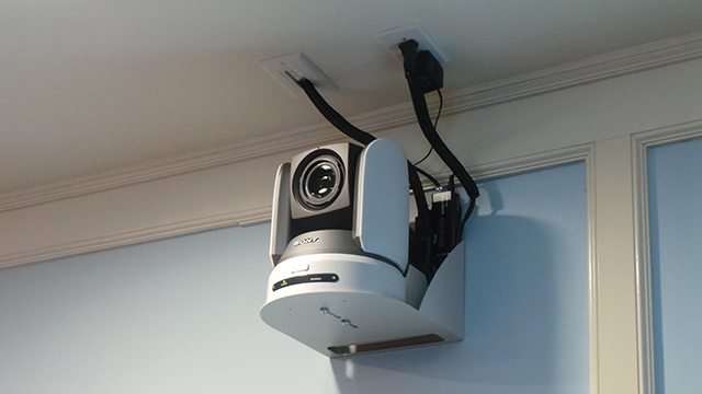 Four compact HD cameras with pan, tilt and zoom abilities are located to cover all areas of the council chamber.