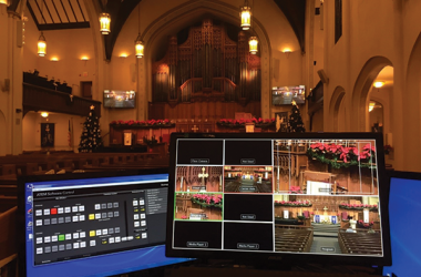 An AV software control system in a Methodist Church in St. Louis MO.