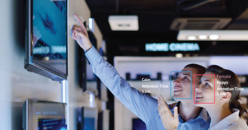 Signage systems using AI and video cameras enable emotion and demographic-based analytics.
