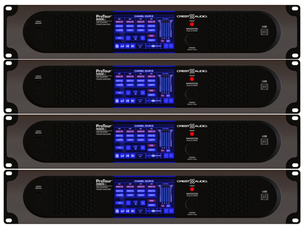 Peavey Commercial Audios Crest Audio Protour Series Power Amps Amplifiers