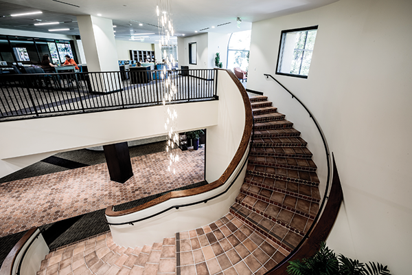 The library moved as much as half of its complement of books and other print material to its Calabasas campus, leaving more open spaces for study.