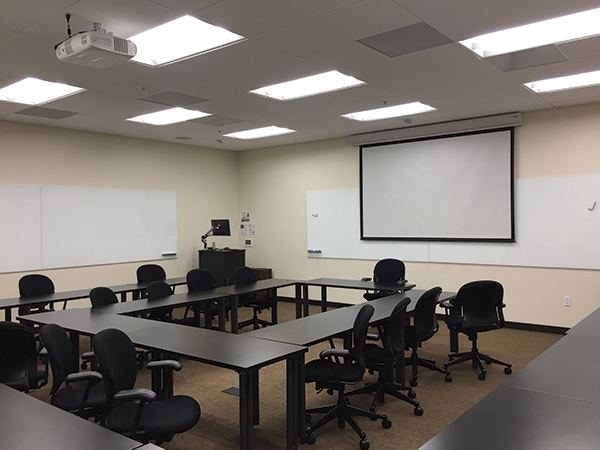 Control elements, projectors and projection screens are all well represented at the Payson Library and throughout Pepperdine's campuses. The AV department has a strategy to stick with certain brands to make maintenance and support easier and more economical.