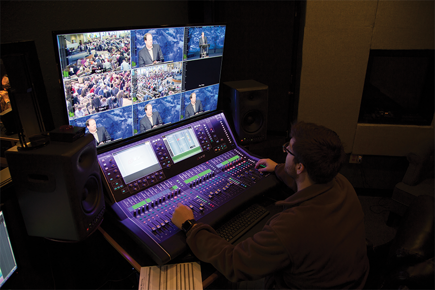As part of an extensive renovation to the building itself, a separate room was created for the production of the audio-for-video mix.