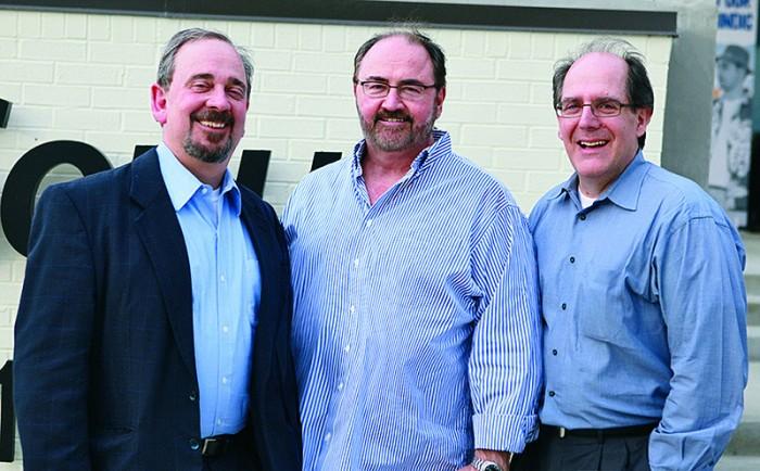 PreSonus Chairman Kevin Kouhig, WorxAudio founder Hugh Sarvis, and PreSonus CEO Jim Mack