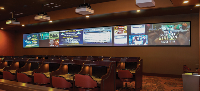 The OTB area features a 48-foot-wide videowall.