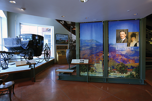 The El Pomar Penrose Heritage Museum in Colorado Springs began as a collection of carriages and antique cars connected to the venerable Broadmoor Hotel, and expanded to document the Pikes Peak Hill Climb Experience.