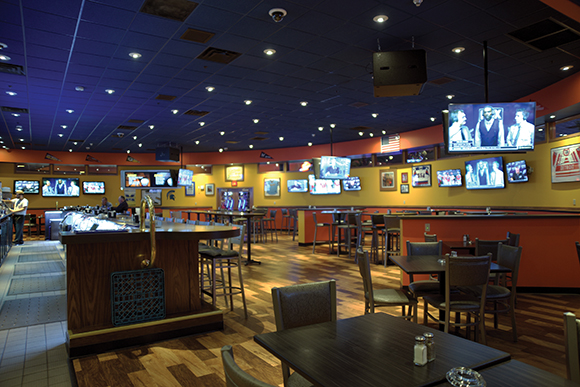 No matter where you go, you can't escape the video at T. McC's Sports Bar.