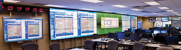 In addition to the two videowalls, the EOC, policy boardroom and Tommy Grier conference room also feature 70-inch LED-backlit interactive displays, as well as several dozen 42-inch miscellaneous displays.