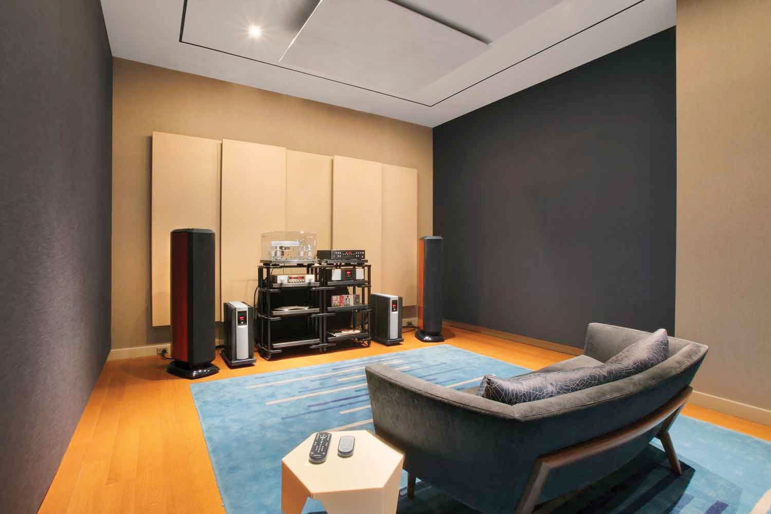 Harman's New York City Listening Room showcases the company's consumer and audiophile equipment.