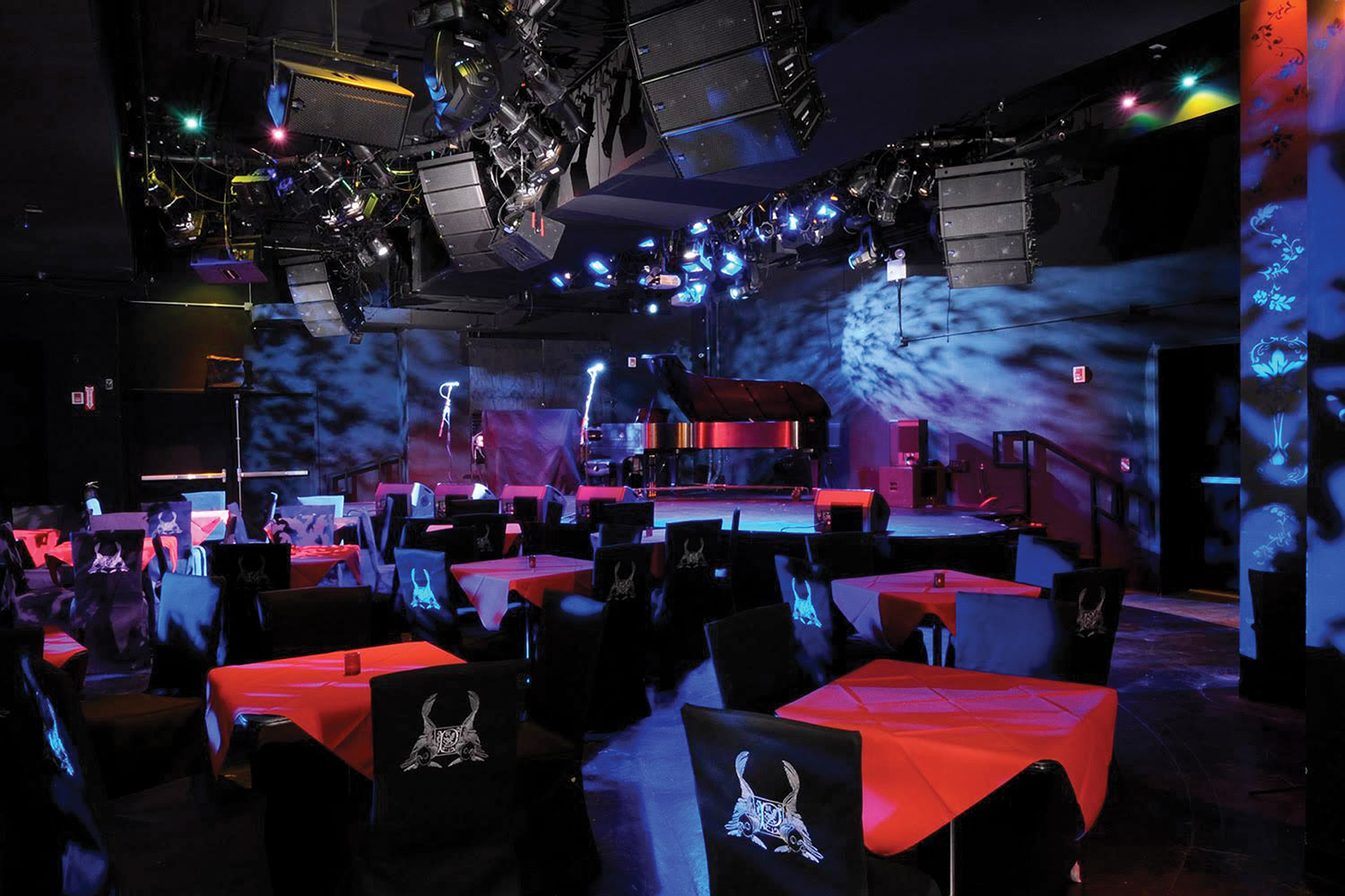 Le Poisson Rouge in New York City's Greenwich Village features a flexible, intimate performance space with a capacity of 800 people.