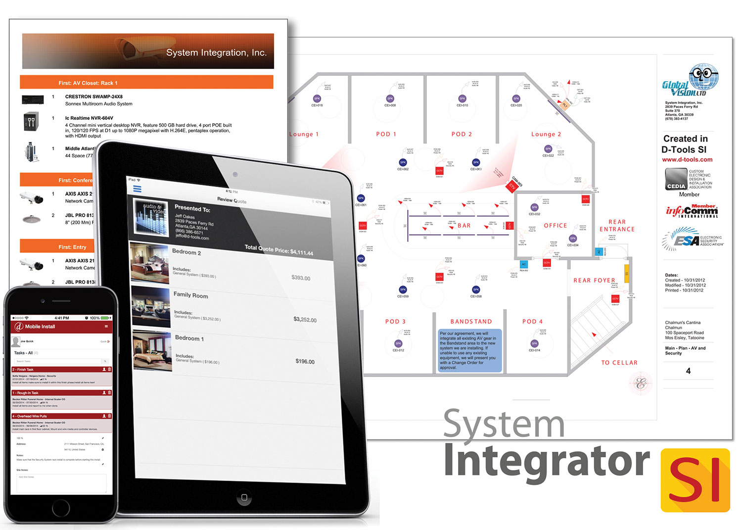 D-Tools System Integrator 2016 uses a cloud-based infrastructure to streamline the complex workflow of collaborative system design, estimation and project management.