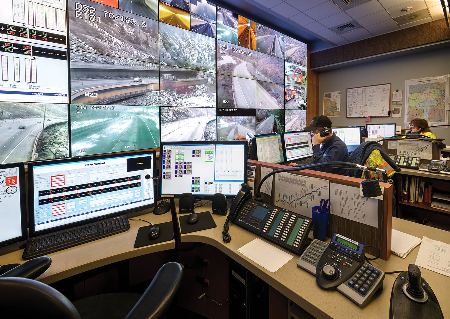 The operators manage the DCS in addition to radio communications with fire departments, law enforcement and maintenance news. This centralized approach ensures that seamless communication is possible for all responding agencies.