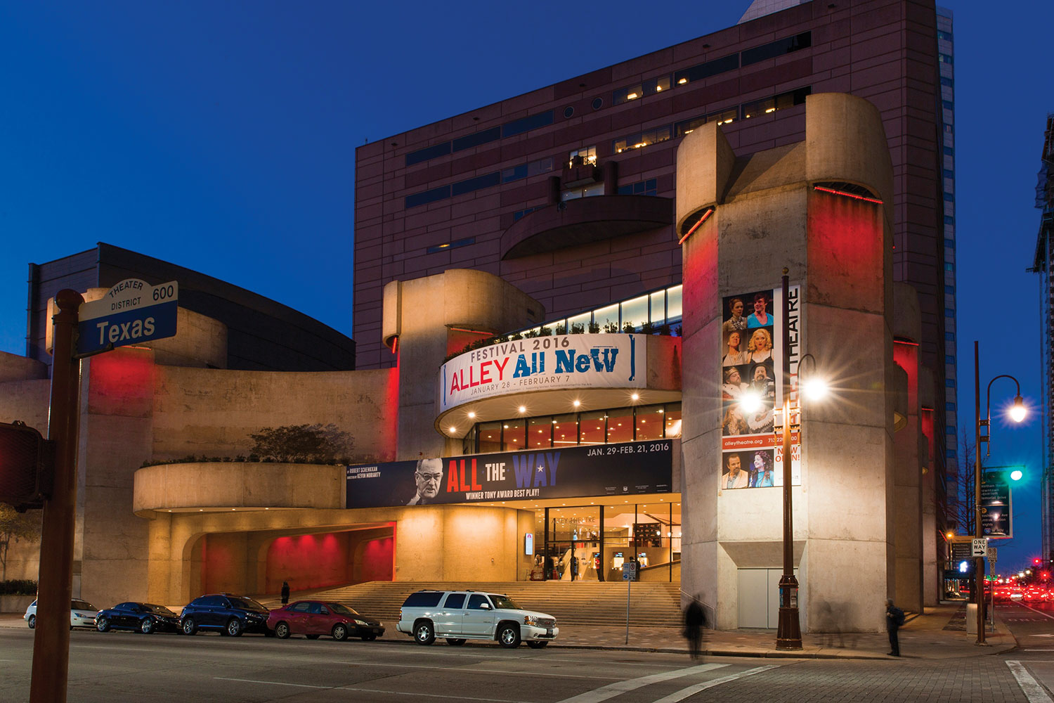 Houston's Alley Theatre has withstood the busts and booms of the city's petro economy. Founded in 1947, it has been at its current downtown location since 1968. (Photo: Julie Soefer)