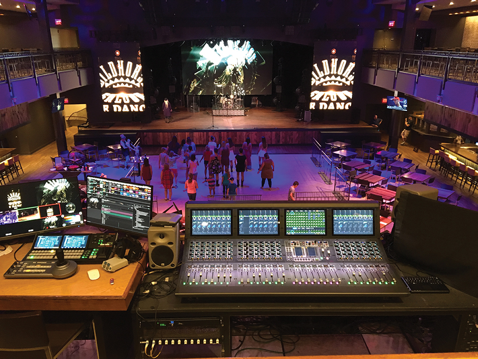 The new FOH console overlooks the new LED videowalls onstage and the refurbished sound system. In addition, an entirely new all-LED lighting rig was installed.