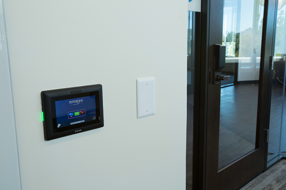Each touchpanel has an intuitive design featuring university themes and logos.
