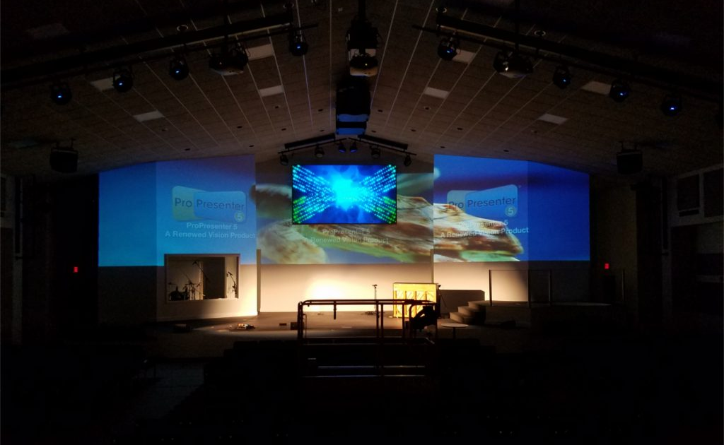 discreet projection solutions churches pro display