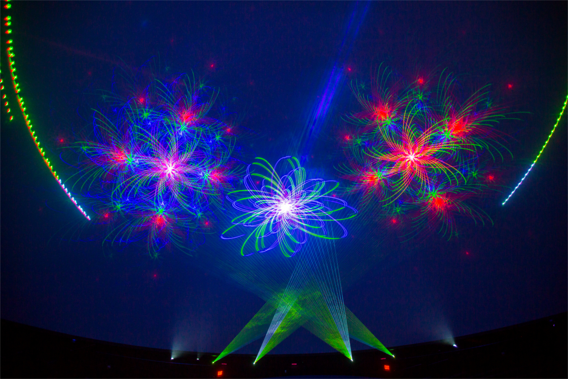The Frost Planetarium's laser shows are out of this world.