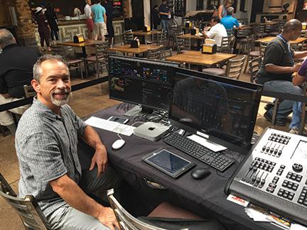Garrett Hestla, Plaza Mariachi's staff AV technician.