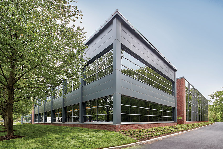 Celgene Corp.'s updated J building has a new look both inside and out.