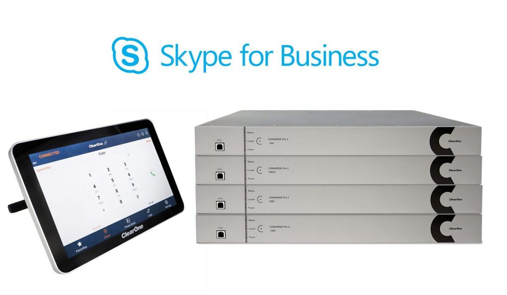 Skype for Business Support in ClearOne CONVERGE Pro 2