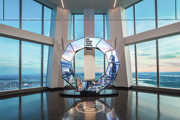 digital displays at one world trade center