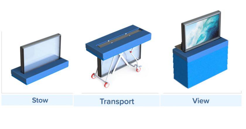 TV Armor's TV Transporter Gurney-Style Cart