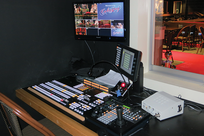 A view of the video control position.