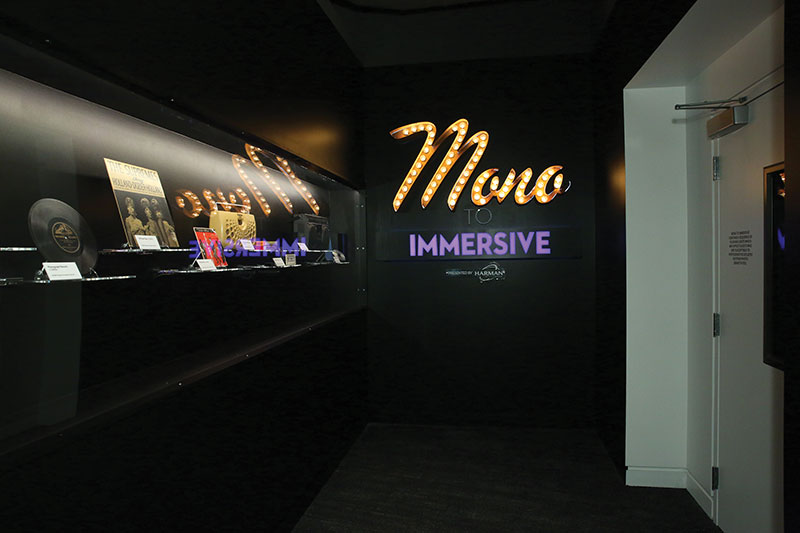 "Although there's plenty of audio and video technology to befit a museum dedicated to sound, the venue also boasts lots of physical artifacts. These include the vinyl and cassette formats on display at the entrance to the ""Mono to Immersive"" exhibit, as well as the guitars that line several of the walls."