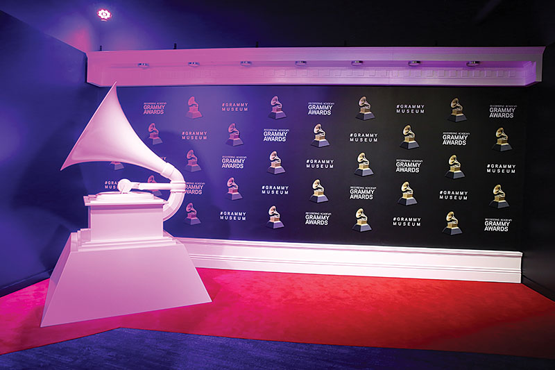 The world-famous GRAMMY, universally recognized as the symbol of outstanding music, demands a museum space that's as electric as the artists' musical creations are.